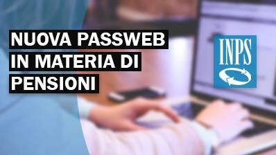 Nuova Passweb in materia di pensioni